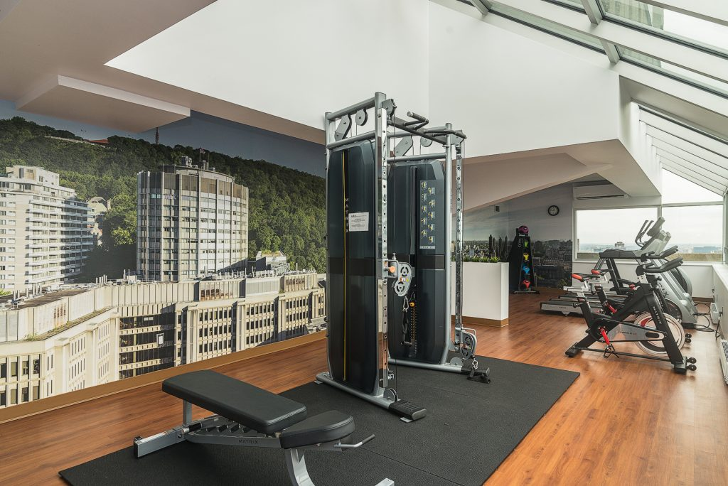 Gymnase au penthouse, Stanley Tower Apartments