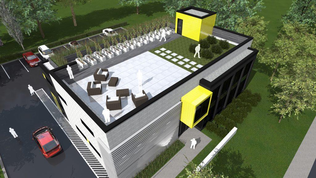 Nouvel édifice à bureaux